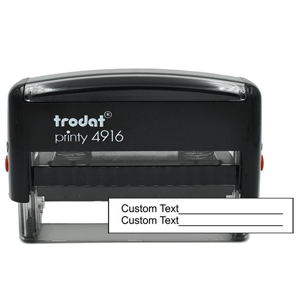 2 Line Form Custom Rubber Stamp