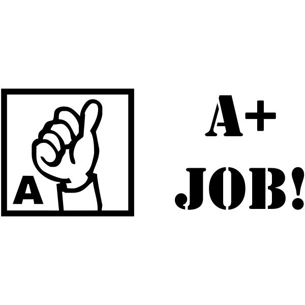 Grading - A+ JOB! Thumbs Up Rubber Teacher Stamp