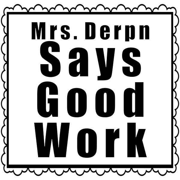 Feedback - Framed GOOD WORK Teacher Rubber Stamp