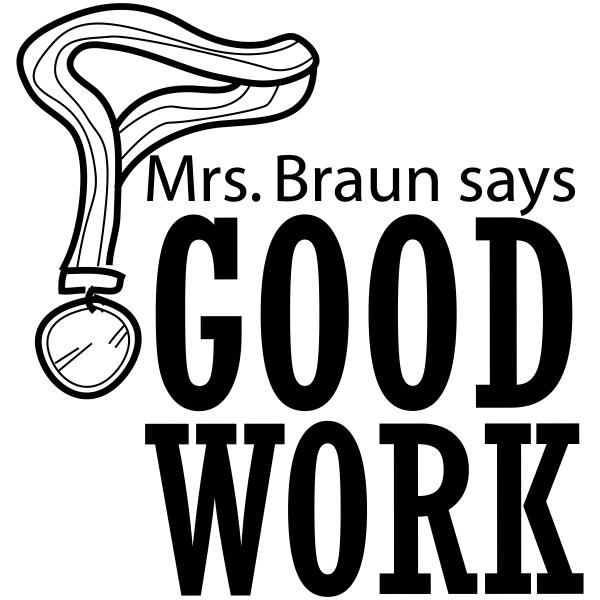 Feedback - GOOD WORK Award Ribbon Rubber Teacher Stamp