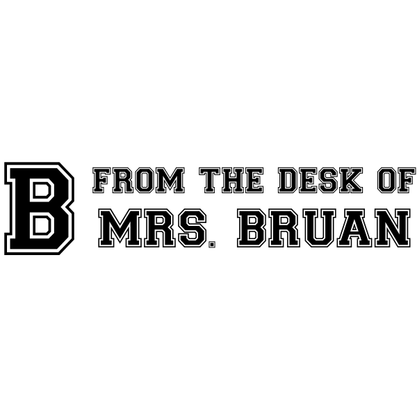 From The Desk Of - Jersey Letter Rubber Teacher Stamp
