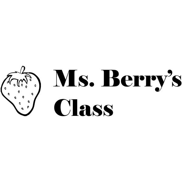 Custom 2 Line - Strawberry Rubber Teacher Stamp