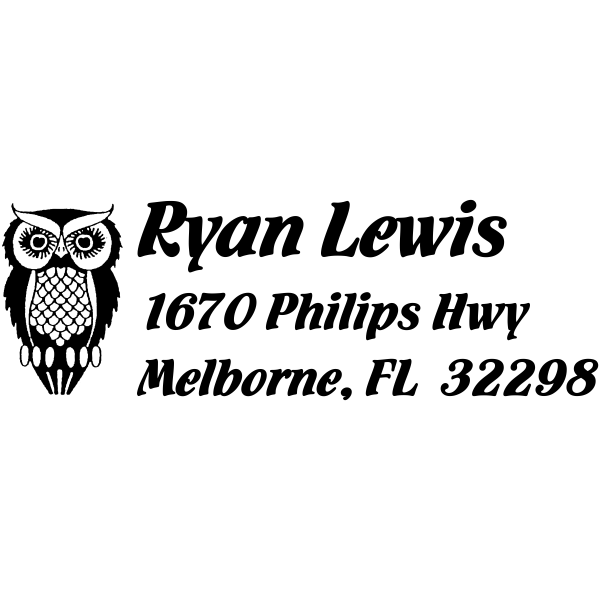 Owl Return Address Stamp