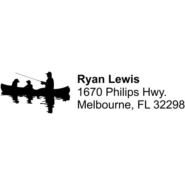 Jon Boat Fishing Return Address Stamp