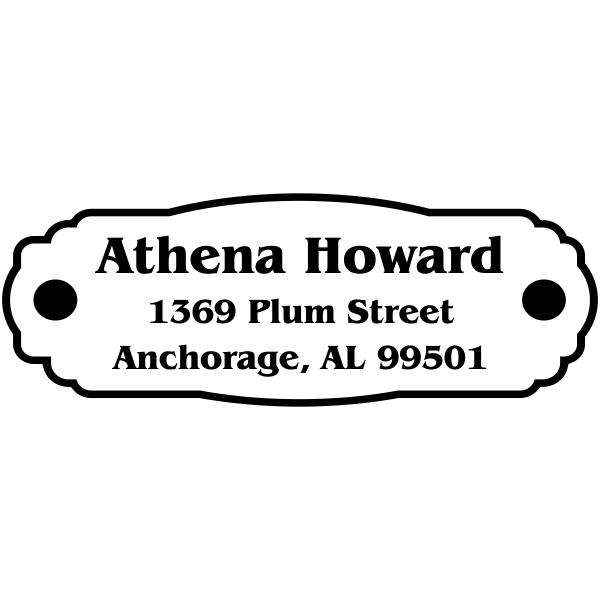 Plaque Plate Custom Address Stamp