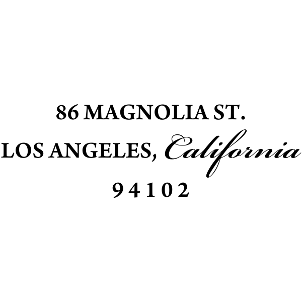 Simple Calligraphy Custom Return Address Rubber Stamp