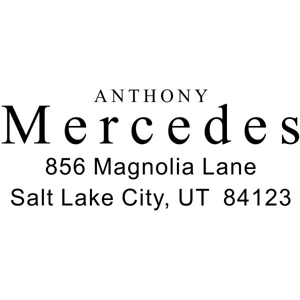 Times Name Return Address Stamp