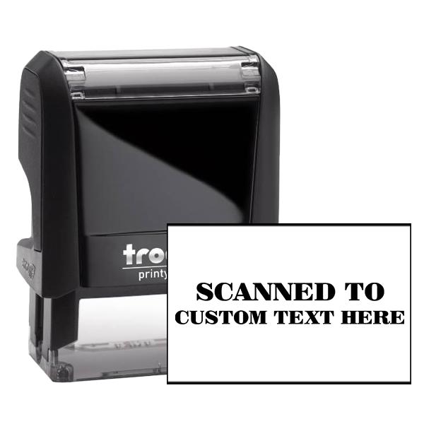 Custom SCANNED Mobile Deposit Rubber Stamp