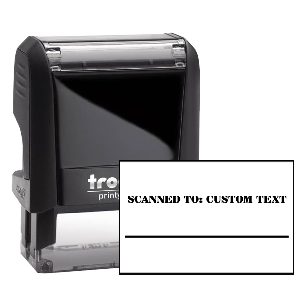 Custom SCANNED TO Paypal Date Space Mobile Deposit Rubber Stamp