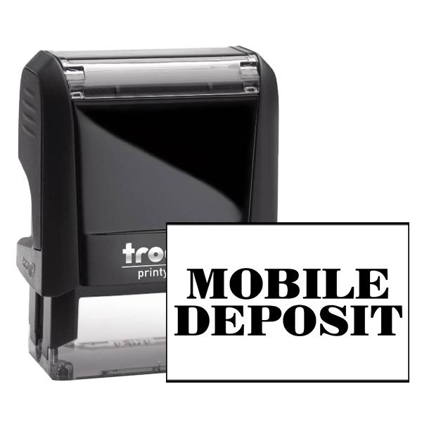 MOBILE DEPOSIT Mobile Check Deposit Rubber Stamp