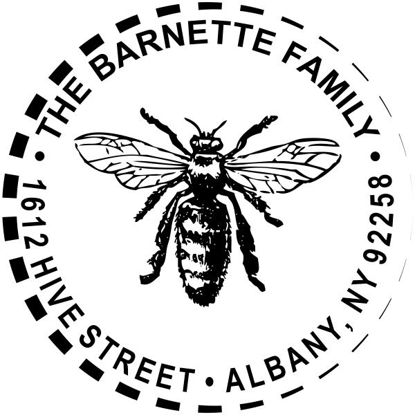 Sitting Hornet Return Address Stamp