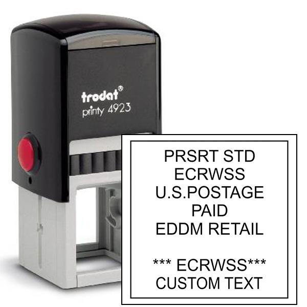 EDDM U.S. Postage Presorted ECRWSS Custom Text Stamp