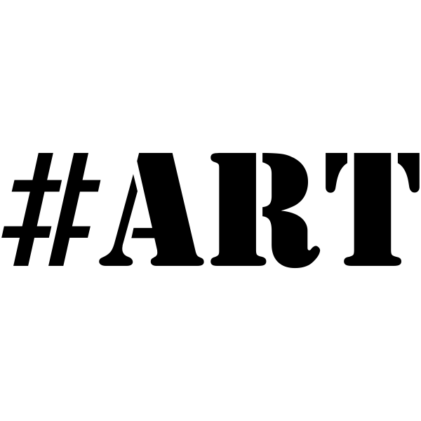 ART Hashtag Rubber Stamp