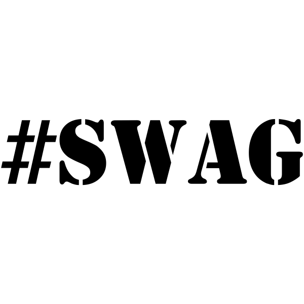 SWAG Hashtag Rubber Stamp
