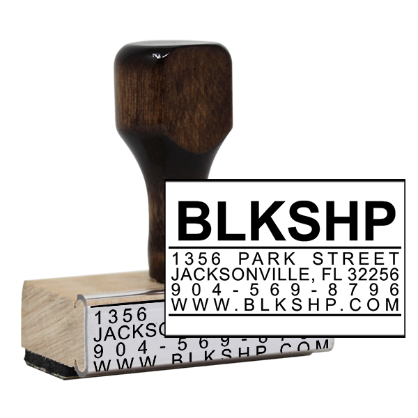 Custom Business Card Rubber Stamp