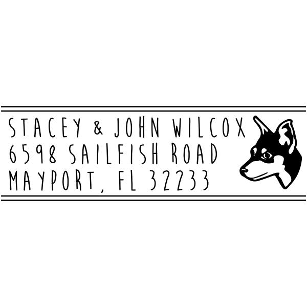 Manchester Terrier Dog Address Stamp
