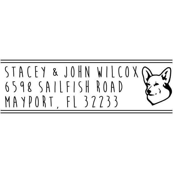 Schipperke Dog Address Stamp