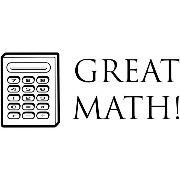 Great Math Teacher Stamp