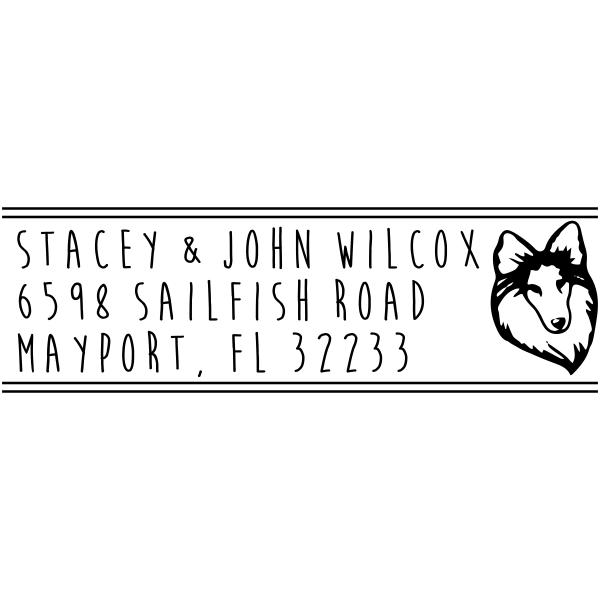 Sheep Dog Address Stamp