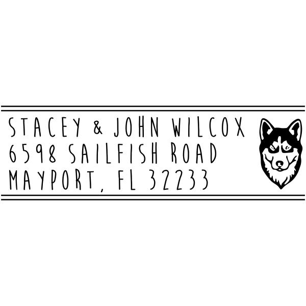 Husky Dog Address Stamp