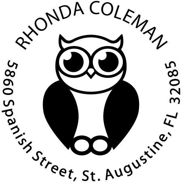 Big Eyed Owl Address Stamp