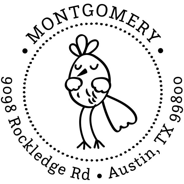 Dancing Bird Address Stamp