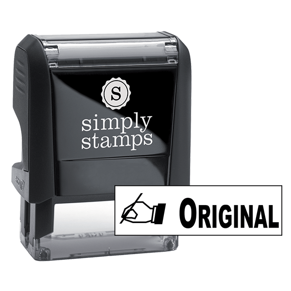 ORIGINAL Stock Stamp with Hand