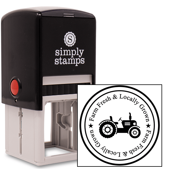 Farm Fresh and Locally Grown Rubber Stamp