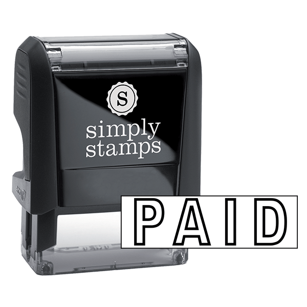 PAID Outlined Stock Stamp