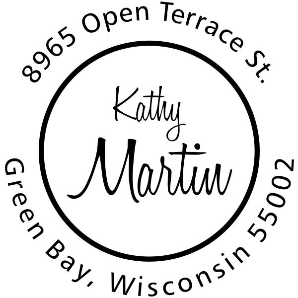 Martin Center Name Address Stamp
