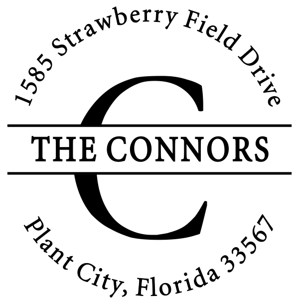 The Connors Family Return Address Stamp