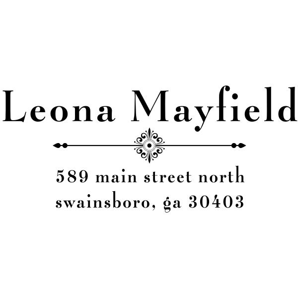 Mayfield Art Deco Address Stamp