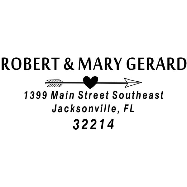 Gerard Heart Arrow Address Stamp