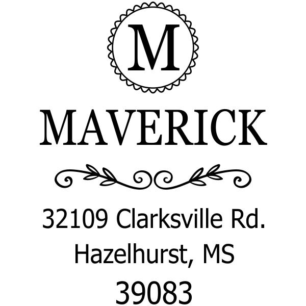 Maverick Monogram Address Stamp