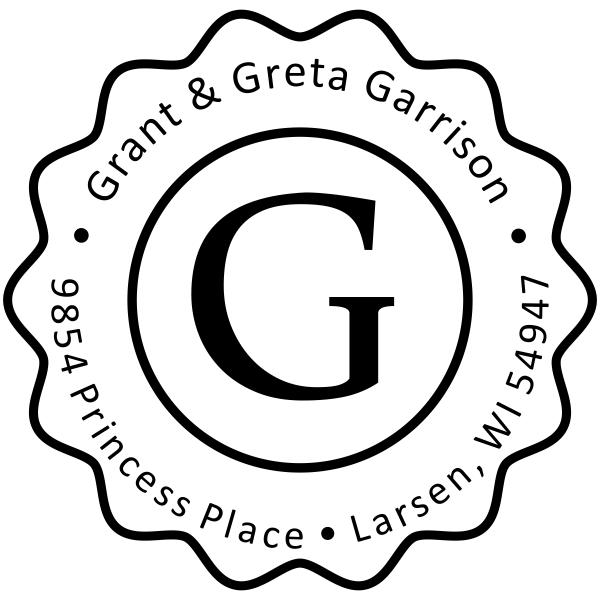 Garrison Groovy Border Address Stamp