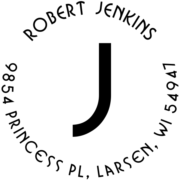 Jenkins Capital Letter Address Stamp