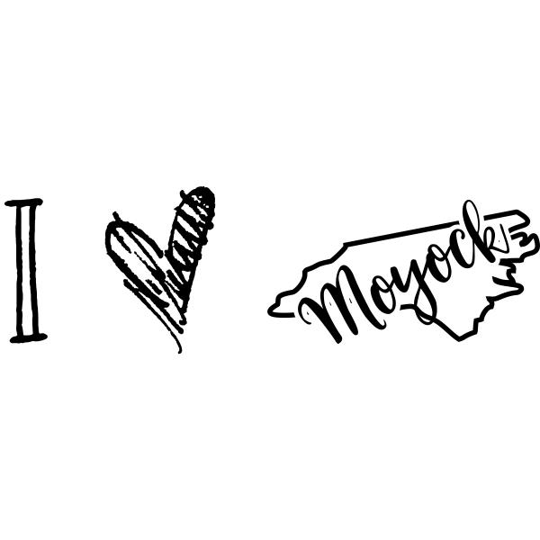 I Love North Carolina Rubber Stamp