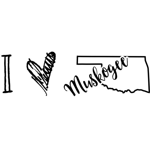 I Love Oklahoma Rubber Stamp