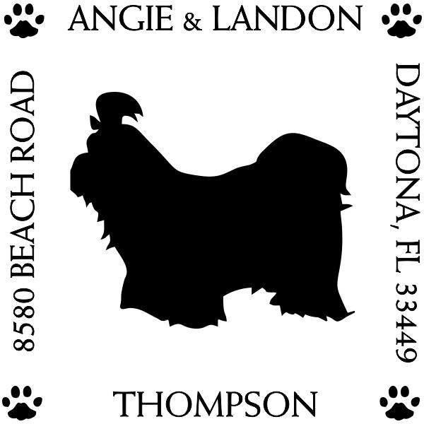 Shih Tzu Pet Lover Dog Address Stamp