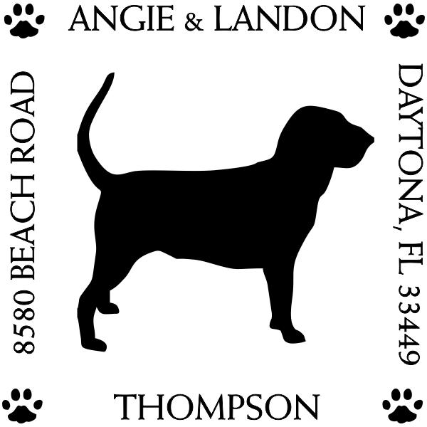 Hound Dog Pet Lover Dog Address Stamp
