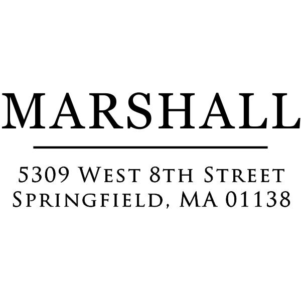 Large Last Name Return Address Stamp