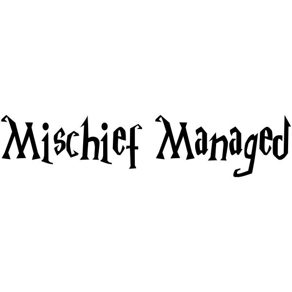 Mischief Managed Halloween Craft Rubber Stamp