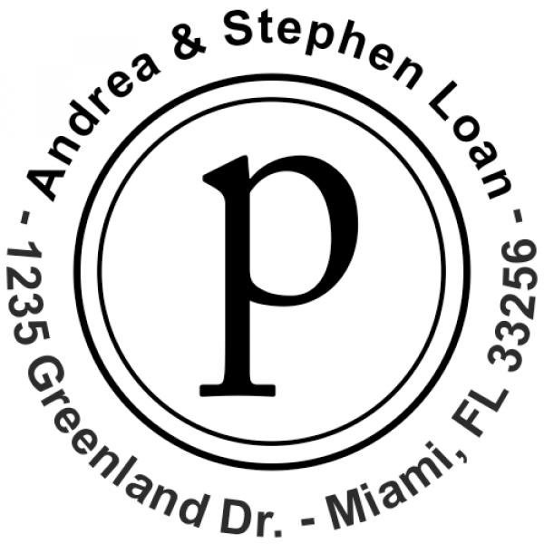 original letter rubber address stamp design