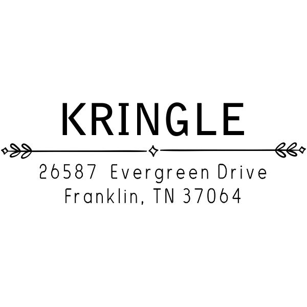Kringle Diamond Deco Address Stamp
