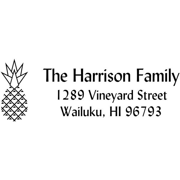 Harrison Pineapple Address Stamp