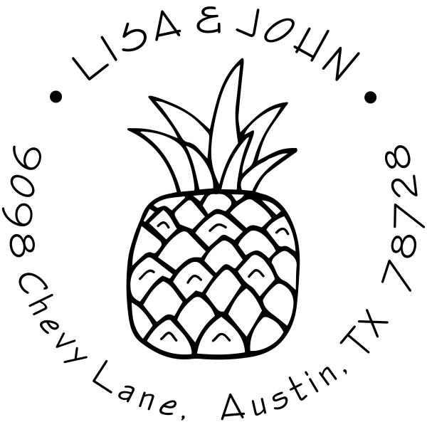Plump Pineapple Address Stamp