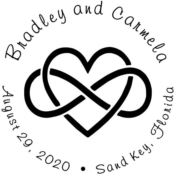 Infinity Heart Wedding Stamp