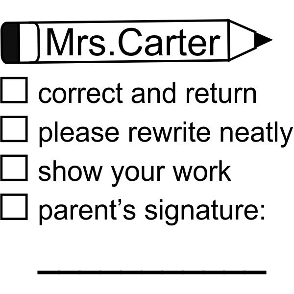 Custom Teacher Grading Stamp