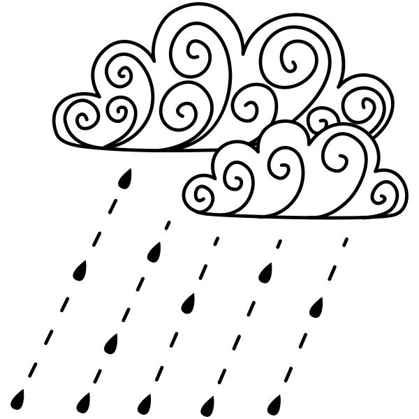 Fall Rain Storm Craft Stamp