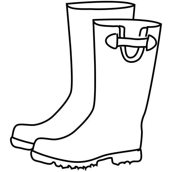 Rain Boots Craft Stamp